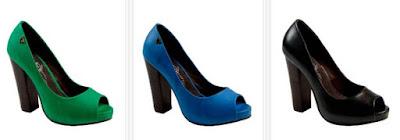 Zapatos verdes, azules o negros