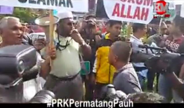 VIDEO PANAS GADUH PAS PKR 1 Hari Sebelum Pengundian Di PRKPermatangPauh