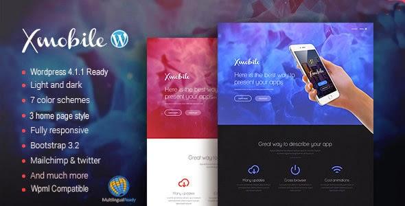 Xmobile - App Landing Page WordPress Theme