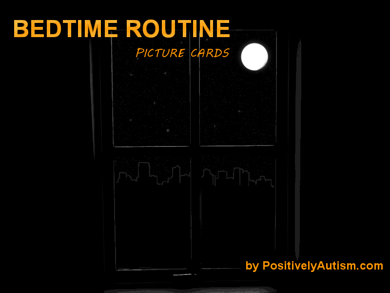 http://www.positivelyautism.com/downloads/BedtimeRoutinePictureCards.pdf