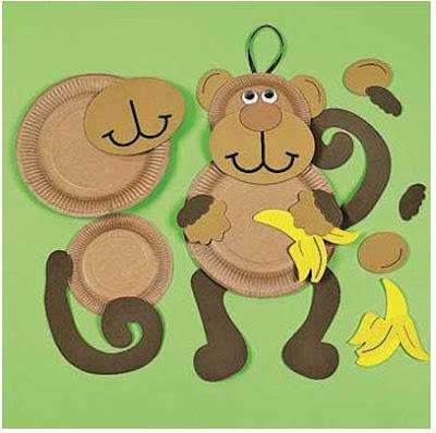 обезьяна из бросового материала своими руками