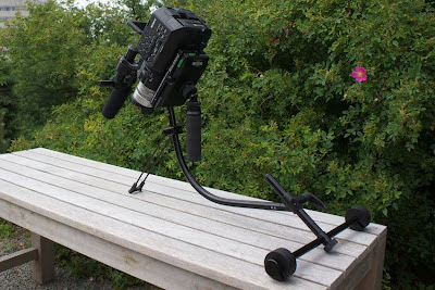 Using the Blackbird resting stand (or kickstand) on location
