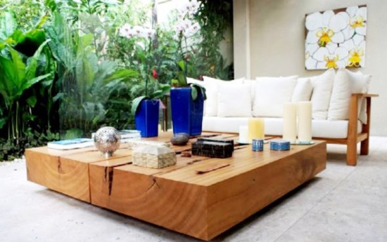 Fresh And Cool Design Outdoor Living Room Contemporary