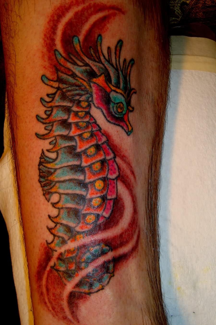 Tatto sea horse tattoo designs for Sea horse tattoos