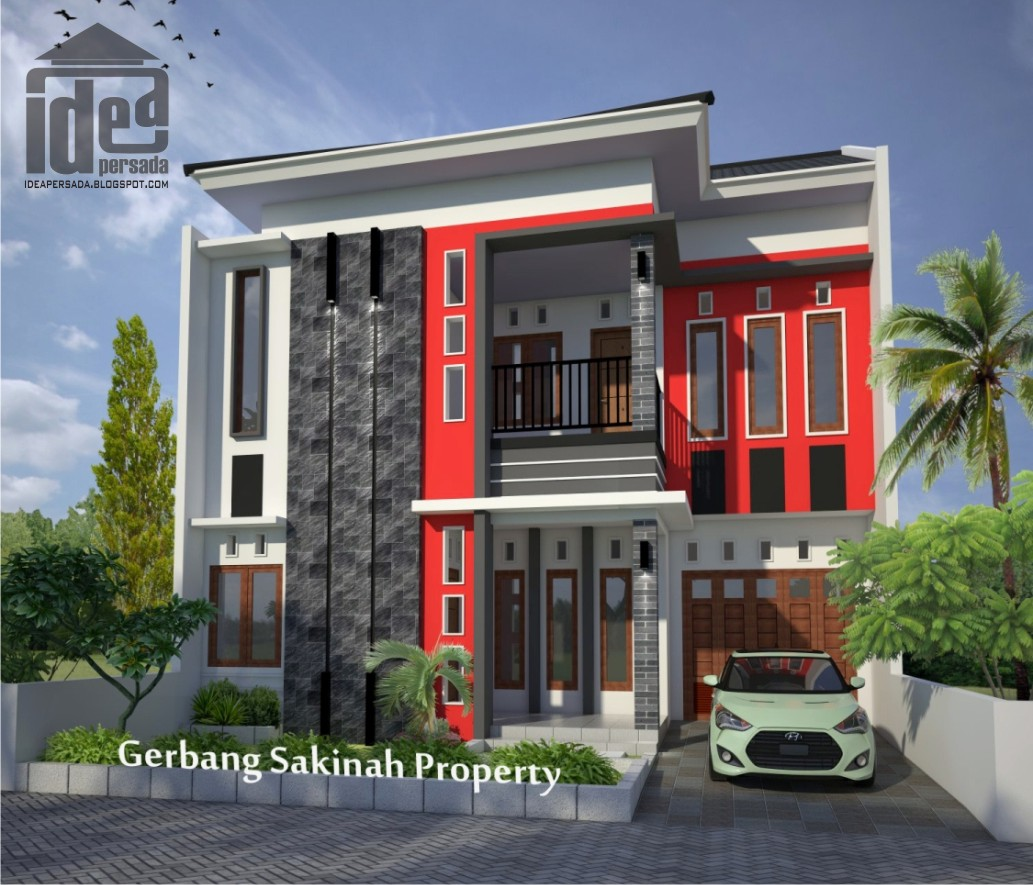 Desain Rumah 2 Lantai & Idea Persada Arsitektur Desain: Portofolio Arsitektur 3D Render