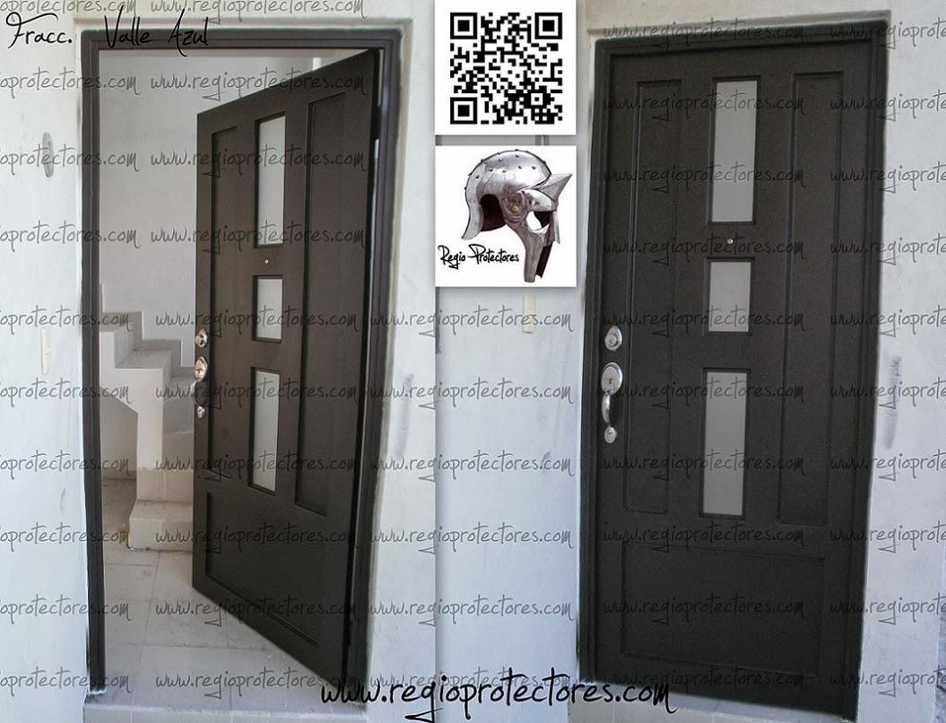 Regio protectores puerta regina fracc valle azul - Puertas de herreria para entrada principal ...