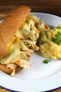 Garlic Chicken & Artichoke Sub Sandwiches