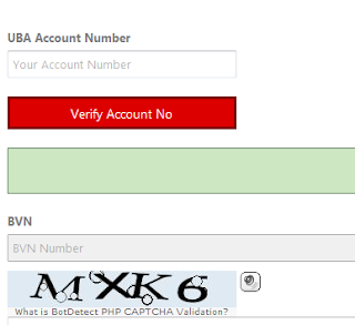 United Bank For Africa ( UBA ) BVN Linker Form