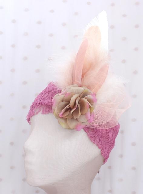 Colección La Playa - Banda crin Rosa pluma