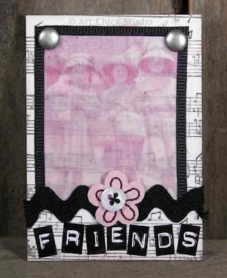 Friends Altered Art ATC