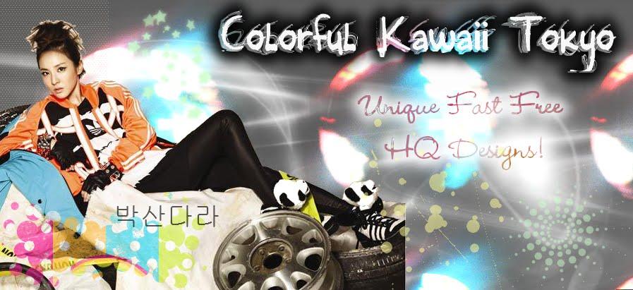 Colorful Kawaii Tokyo Designs