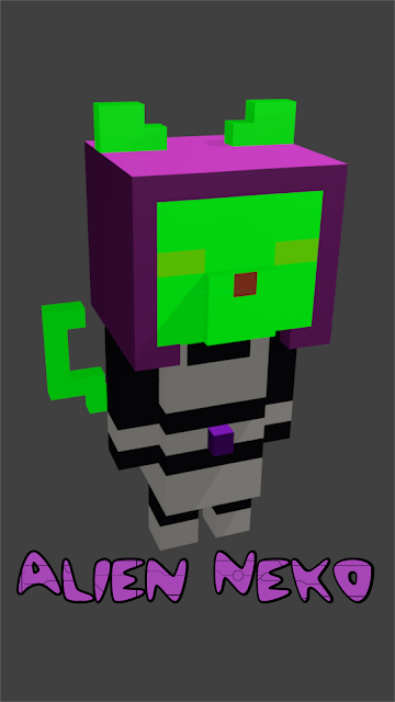 Minecraft Alien Neko Wallpaper