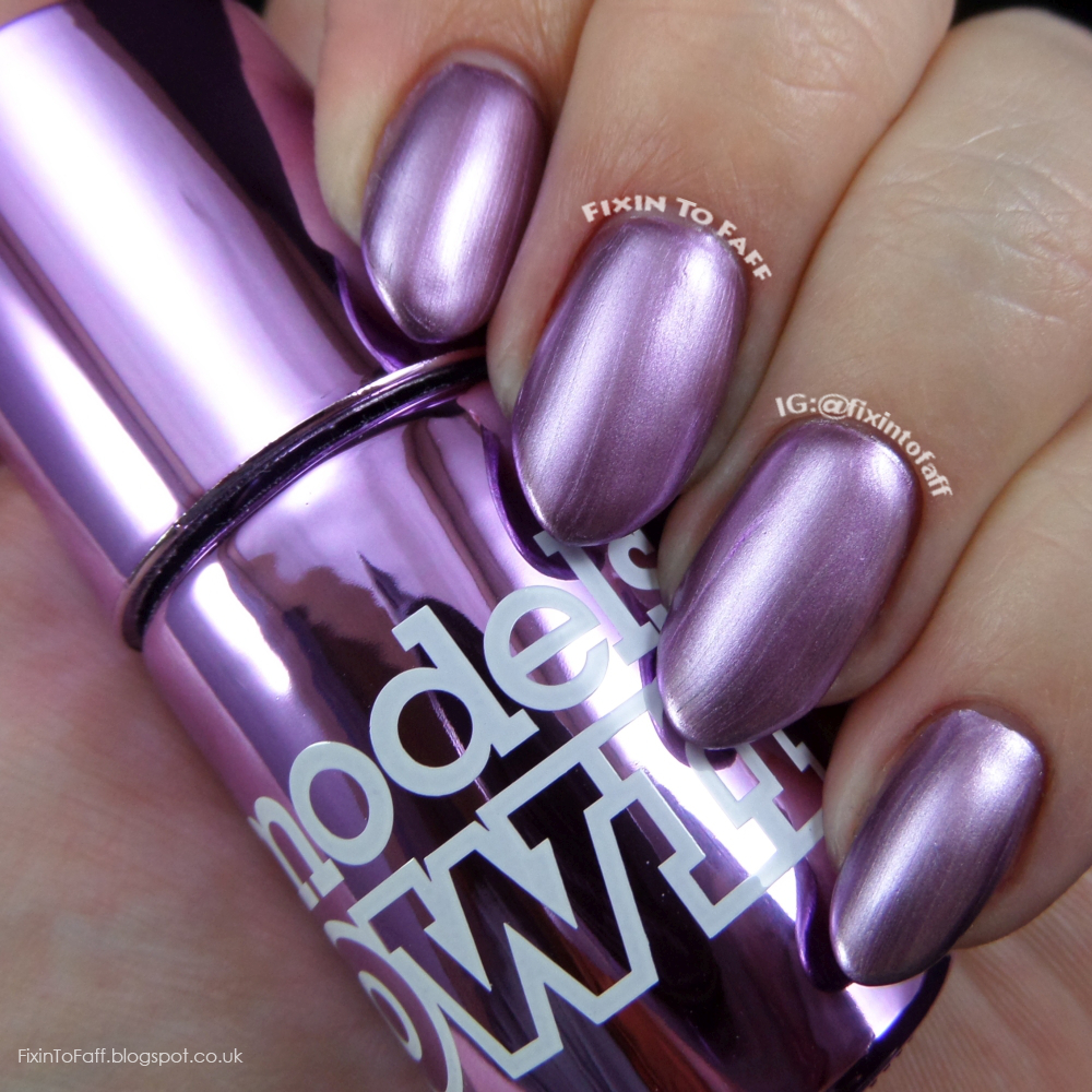 Swatch and review of Models Own Colour Chrome collection, Chrome Mauve
