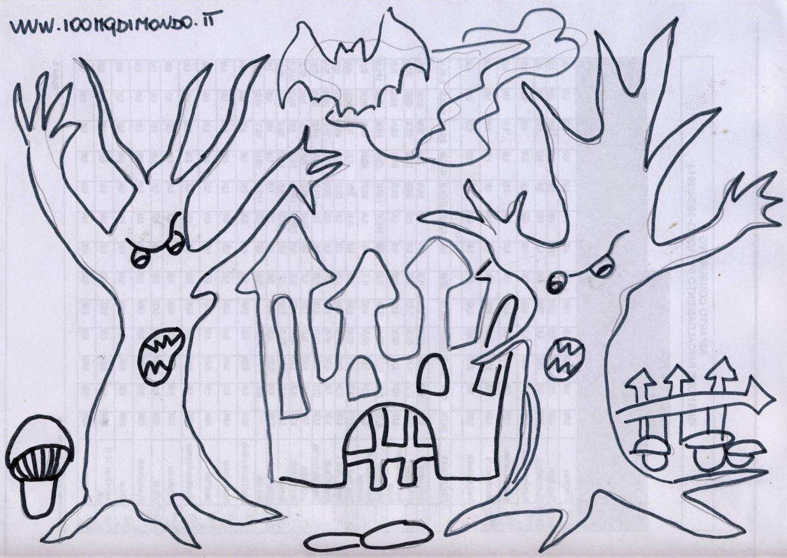 100 Metri Quadri Di Mondo Halloween Il Bosco Della Paura Da Colorare