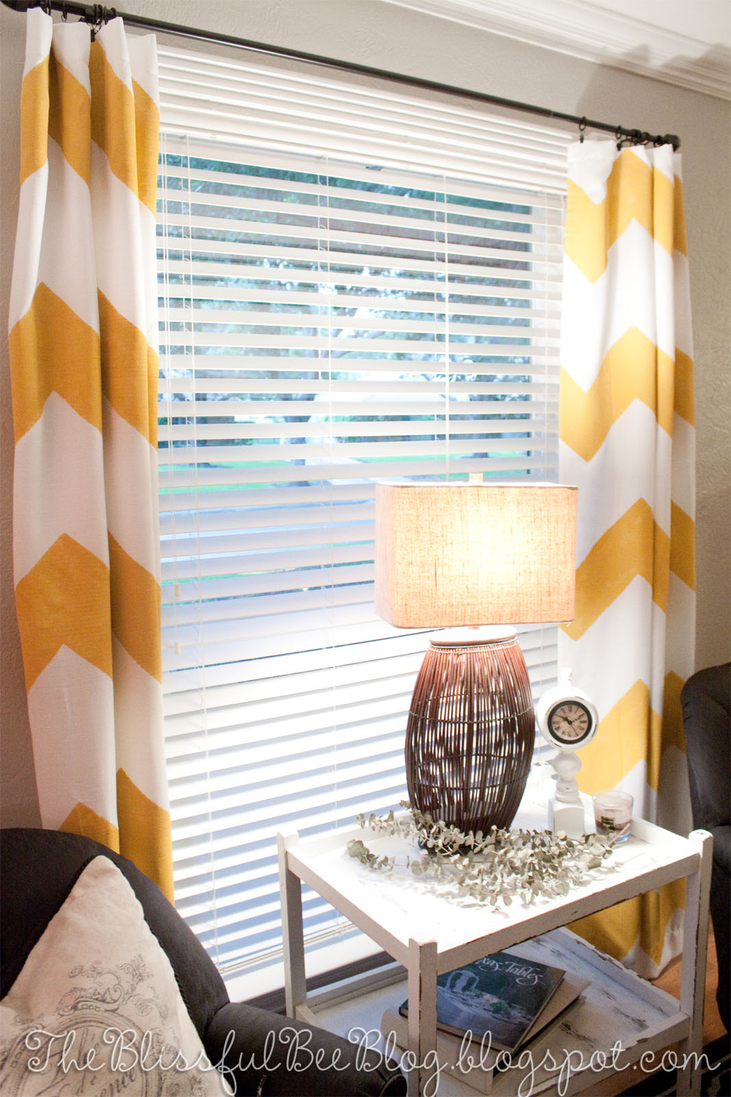 DIY Painted Chevron Curtains – THE BLISSFUL BEE