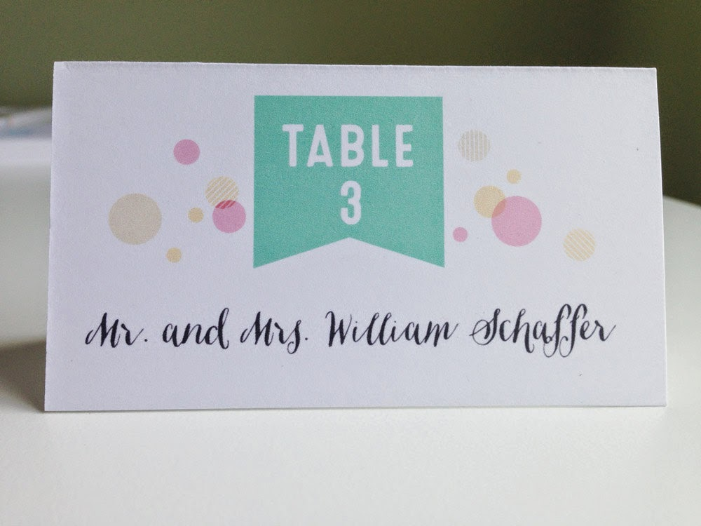 Whimsical Wedding Escort Cards - you pick colors & fonts - we print your guest names & table assignments!