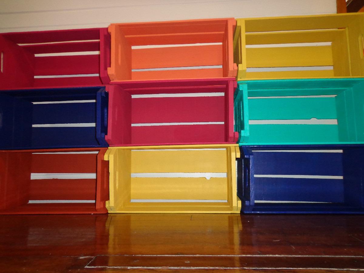 estante de caixotes de feira de madeira sustentavel grande MLB F  #038C7F 1200x900