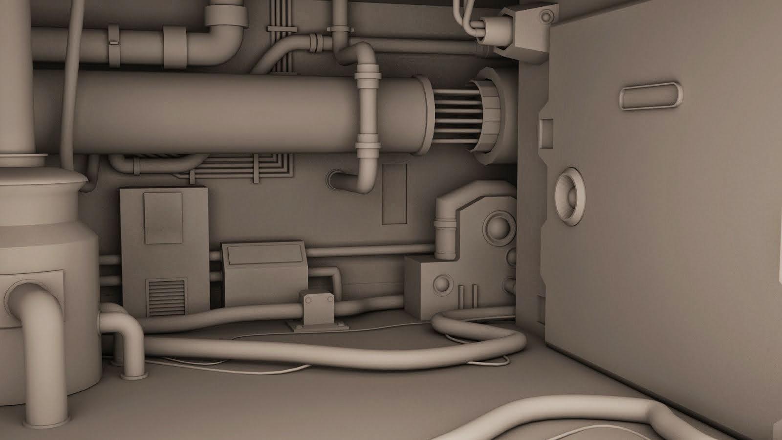 travail en cours de l'intérieur d'une usine a gaz