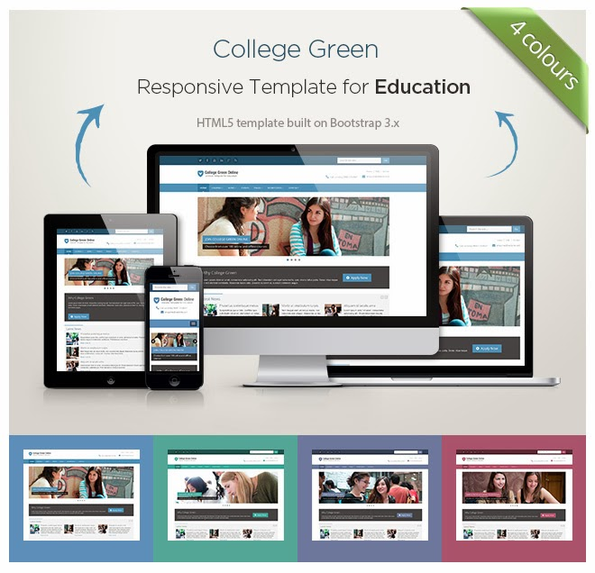 template for schools, colleges, universities and online educational