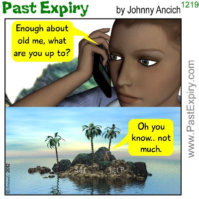 Cartoon about cliche, iPhone,