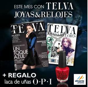 Telva Te Regala Con Su Revista De Noviembre 2012 Una Laca de Uñas OPI