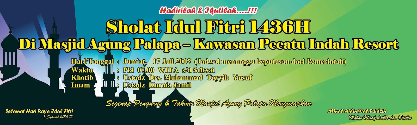 Banner Sholat Idul Fitri H