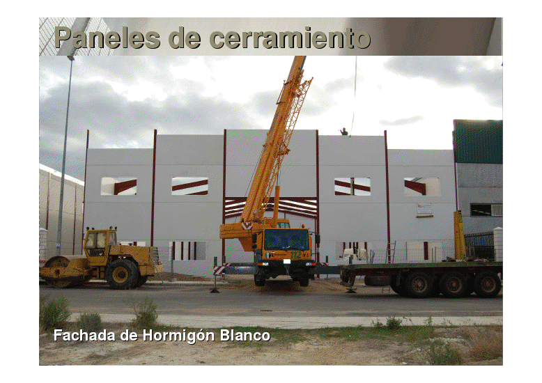 Fabricaci n de paneles prefabricados de hormig n y montaje for Naves prefabricadas de hormigon precios