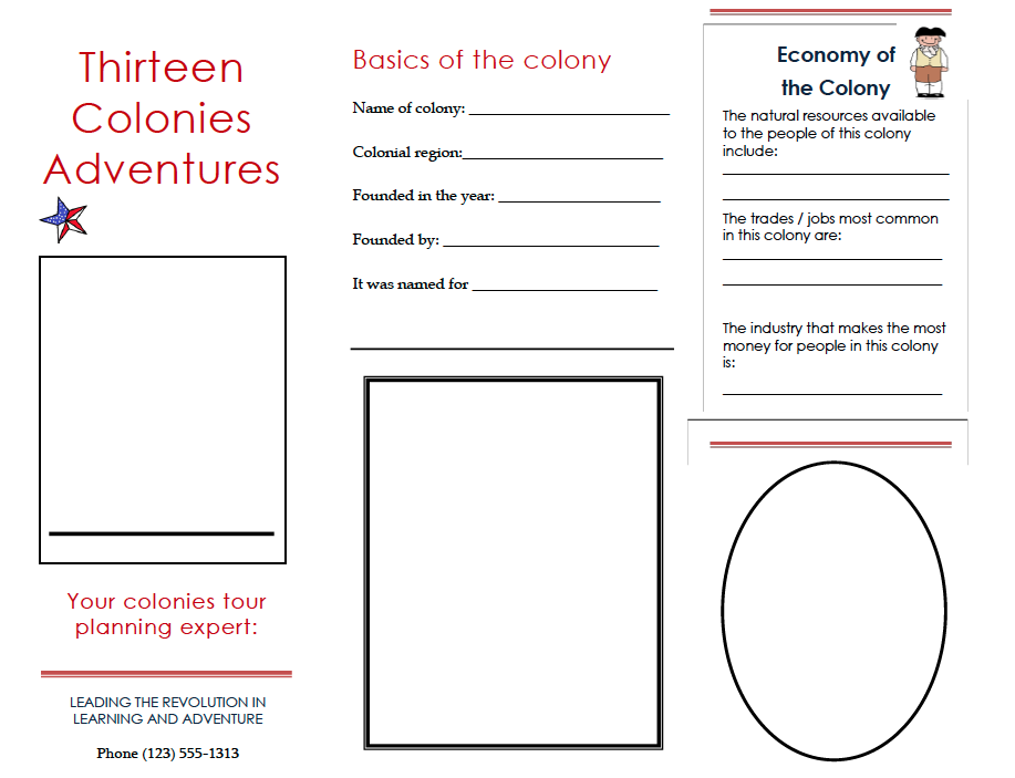 Mrs moylan 39 s class page thirteen colonies brochure project for Island brochure template