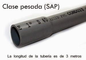 Tubo el ctrico liviano sap materiales de construccion - Tubo pvc electrico ...