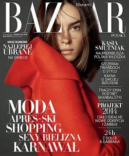 Magazine Cover : Kasia Smutniak HQ Photoshoot Pics on Harper's Bazaar Polônia  Janeiro 2014