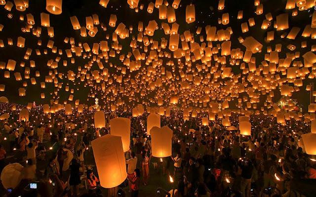 yee peng festival of lanterns chiang mai thailand 800x500 أجمل مهرجانات العالم ''مهرجان المصابيح في تايلند '' سيذكرك بفيلم ديزني الشهير Tangled