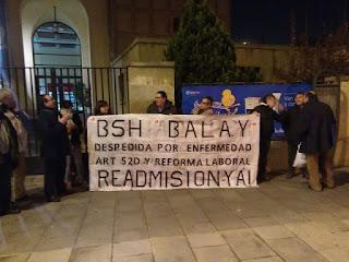 Comités de empresa de BSH Balay se concentran