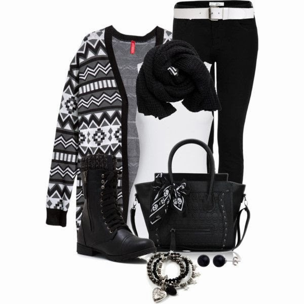 Black and White Polyvore Outfit