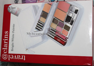Clarins Travel Bright White face palette review, swatches, photos
