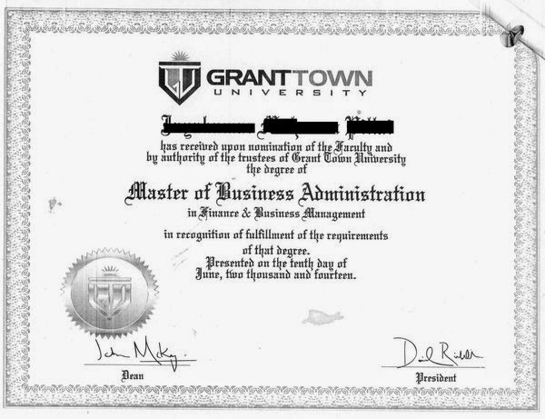 an example of a fake diploma issued by one of axacts fictitious schools grant town university