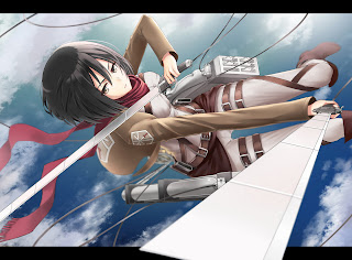 Attack on Titan Shingeki no Kyojin Mikasa Ackerman Anime Girl Sword Blade HD Wallpaper Desktop PC Background