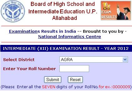 check up board 2012 inter result