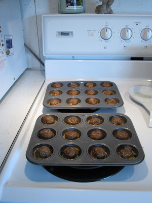 oven baked lamb meatballs in mini-muffin tins