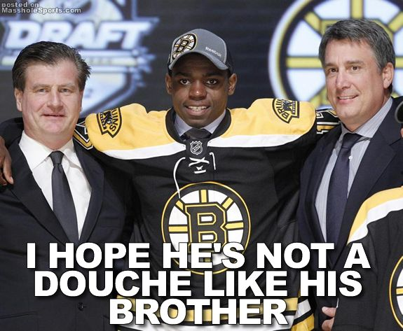 Masshole Sports So The Bruins Drafted Goalie Malcolm Subban