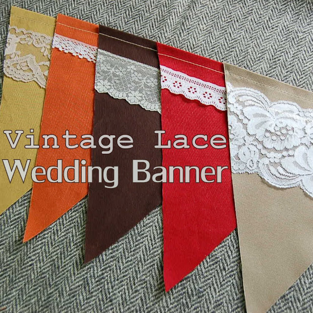 Vintage Lace Pennant Banner