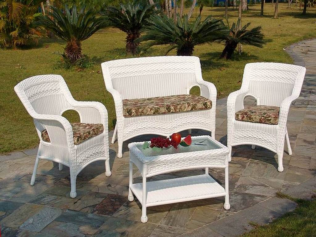 white patio furniture - furniture