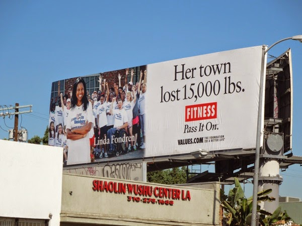Linda Fondren Fitness Values billboard