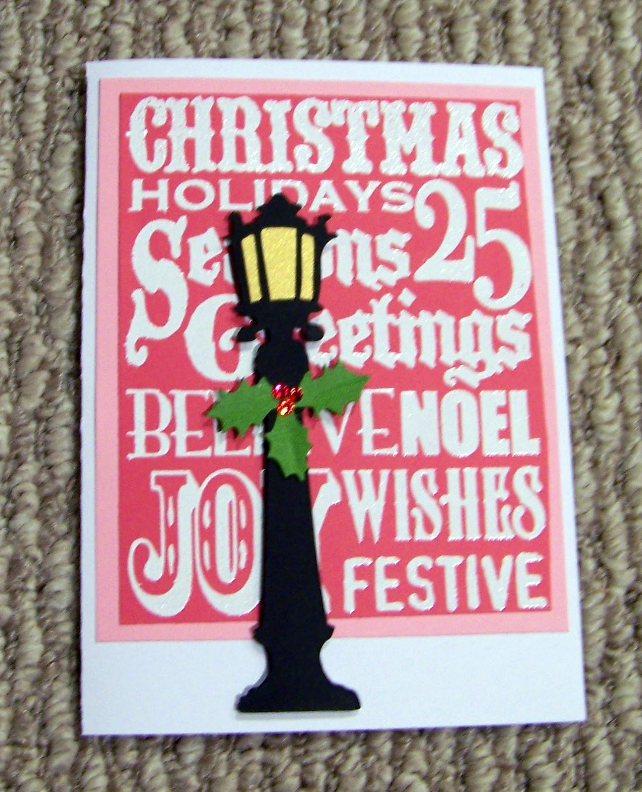 tim holtz christmas card idea