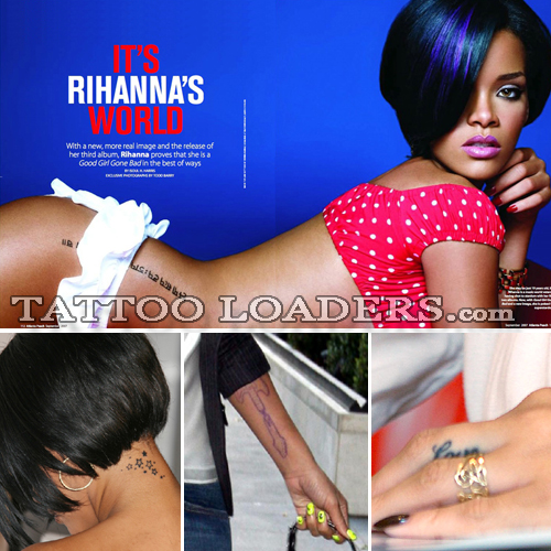 Rihanna Tattoos rihanna tatoos