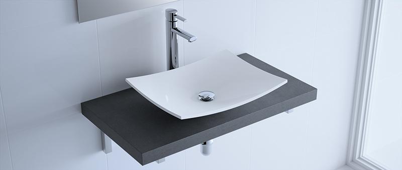 lavabo apoyar carga mineral