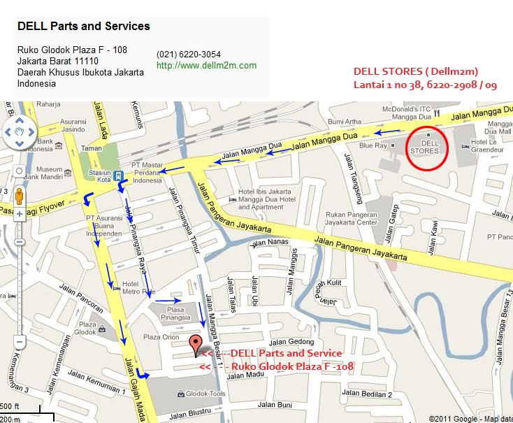 MAPS LOCATIONS DELL STORE M2M lt 1 no 38