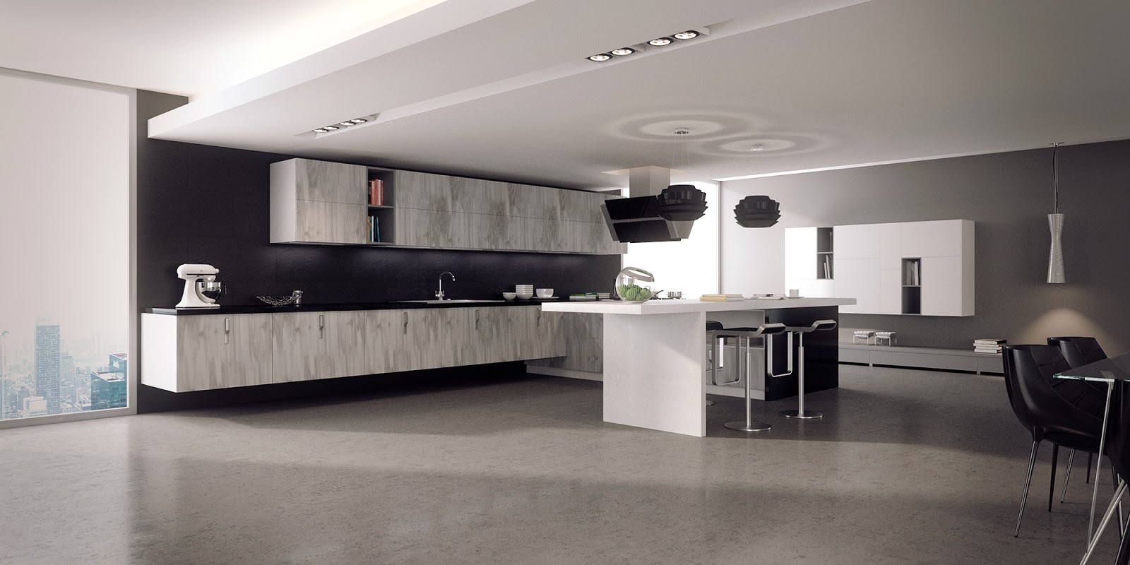 Jose vicente sanz march ambiente cocina con muebles en for Diseno cocinas 3d