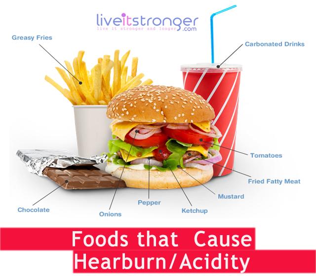 acidity causing foods