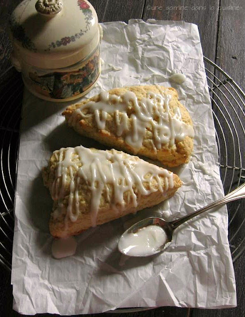 Lime & Ginger Cream Scones |une gamine dans la cuisine