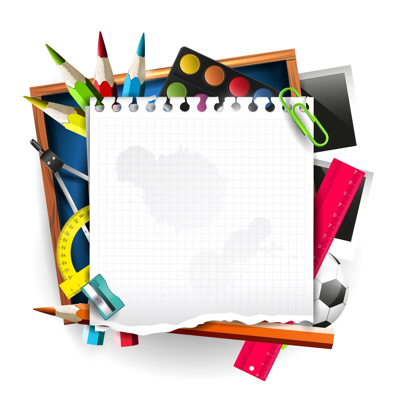 School supplies background png